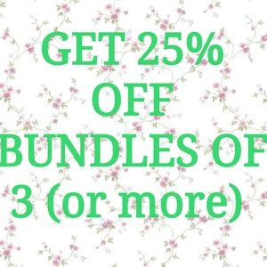 Bundle 3 Items to Get 25% Off